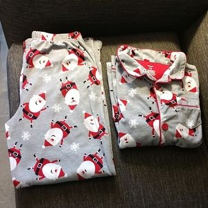 Carter's 2 piece Fleece Santa Pajamas size 12